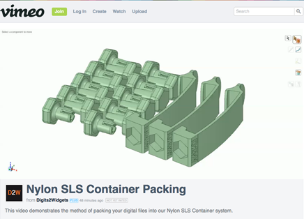 Video illustrating the packing process