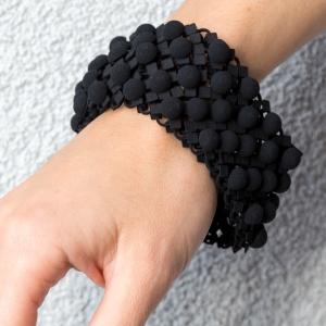 """Black """"Hemisphere"""" Bracelet"""